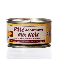 """Pâté de campagne aux noix 130g """"Pélérin des saveurs"""""""