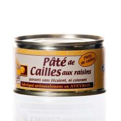 """Pâté de caille aux raisins 130g """"Pélérin des saveurs"""""""