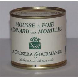 """Mousse de foie gras de canard aux Morilles 100g """"Drosera"""""""