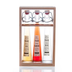 COFFRET 3 VINAIGRES -Arômes noix/truffe/framboise- 3x4cl