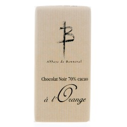Tablette 70% Cacao à l'Orange 100g