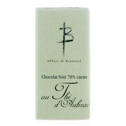 Tablette 70% Cacao au thé d'Aubrac 100g