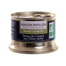 Terrine canard aux olives vertes 130g