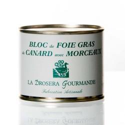 """Bloc de foie gras de canard avec morceaux 100g """"drosera"""""""