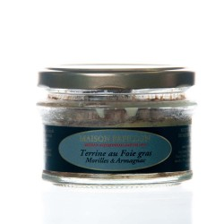"""Verrine 50% foie gras morilles / armagnac 110g """"maison papillon"""""""