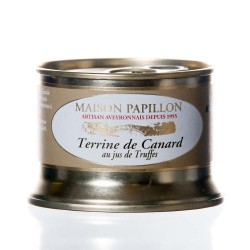 "Terrine canard au jus de truffes 130g ""Papillon"""