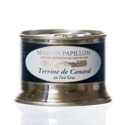 "Terrine canard 20% foie gras 130g ""Papillon"""