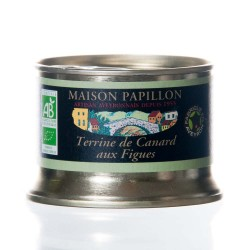 "Terrine canard figue 130g ""Papillon"" BIO"