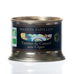 "Terrine canard cèpes 130g ""Papillon"" BIO"