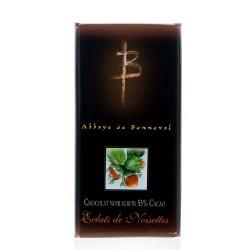 Tablette Surfin Noir 53% Cacao Eclats de Noisettes Grillées 100g