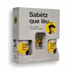 Coffret 2x33cl (Sabetz) + 1 verre