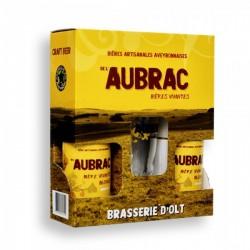 Coffret 2*33cl Blonde Aubrac + 1 verre