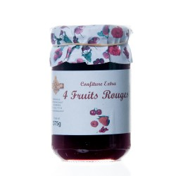 Confiture aux 4 fruits rouges 370 g