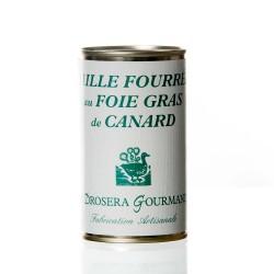 "Caille fourrée au foie gras de canard (42%) ""drosera"""
