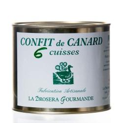 """Confit de canard 6 cuisses 1900 g """"Drosera"""""""