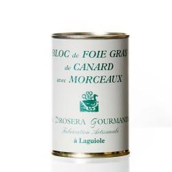 """Bloc de foie gras de canard avec morceaux 400g """"drosera"""""""