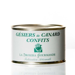 "Gésiers confits de canard 380g ""drosera"""