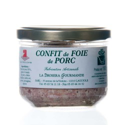 "Confit de foie de porc 180g ""drosera"""