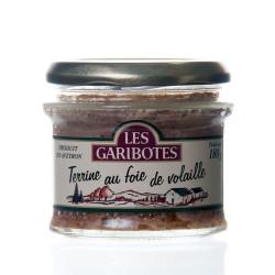 """Terrine de pays au foie de volaille 180g """"garibotes"""""""
