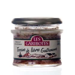 """Terrine de lièvre gastronome 180g """"garibotes"""""""
