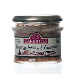 """Terrine de lapin à l'armagnac 180g """"garibotes"""""""