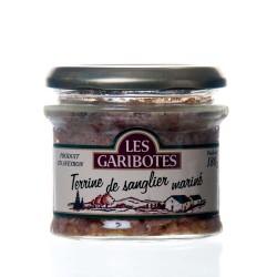 """Terrine de sanglier marinade 180g """"garibotes"""""""