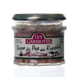 """Terrine du pays au roquefort 180g """"garibotes"""""""