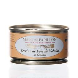 """Pâté de foie de volaille au genièvre 130g """"maison papillon"""""""